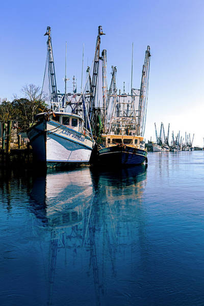 Photograph - Early Evening Harbor Blues Painting by Debra and Dave Vanderlaan