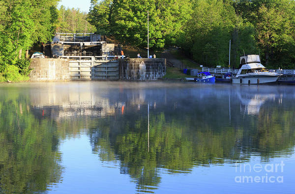 Wall Art - Photograph - Early Morning Below The Lock Flight At Jones Falls Ontario by Louise Heusinkveld