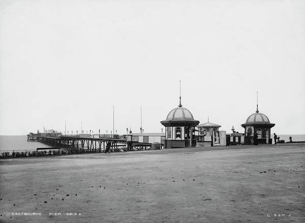 Photograph Photograph - Eastbourne Pier by London Stereoscopic Company