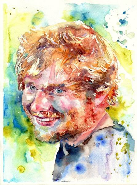 Wall Art - Painting - Ed Sheeran by Suzann Sines