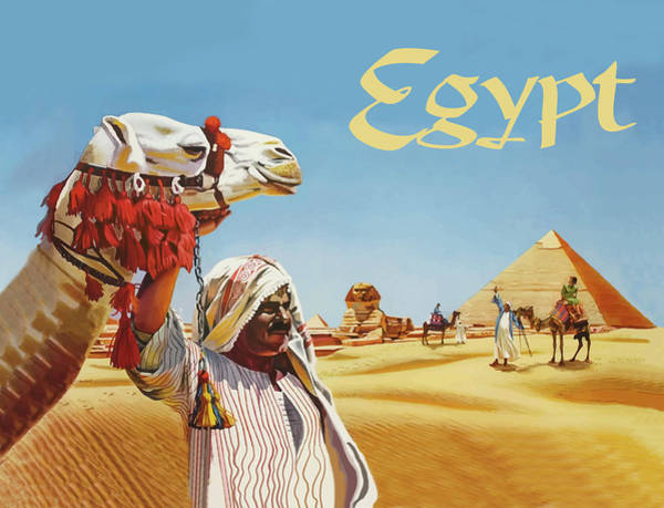 Ancient Egypt Painting - Egypt by Long Shot