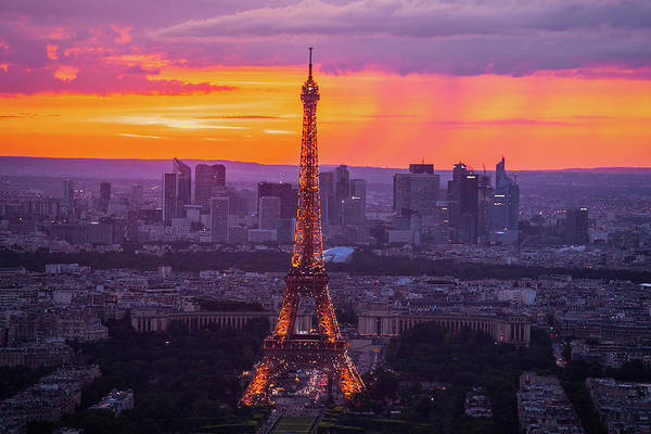 Wall Art - Photograph - Eiffel At Sunset by Andrew Soundarajan