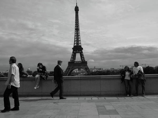 Art Print featuring the photograph Eiffel Tower, Tourist by Edward Lee
