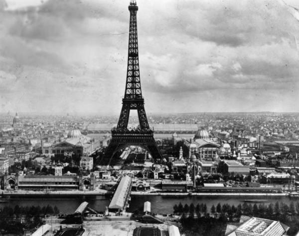 1889 Photograph - Eiffel Tower by Hulton Archive