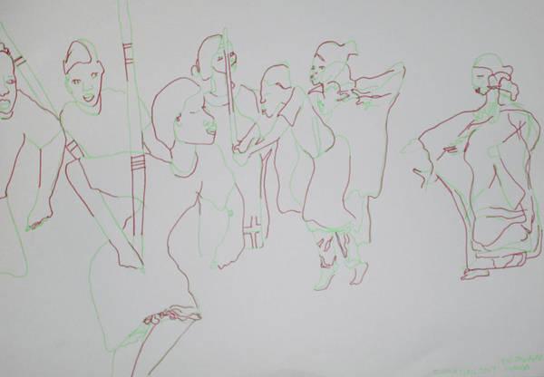 Painting - Ekitaguriro Ankole Dance Uganda by Gloria Ssali