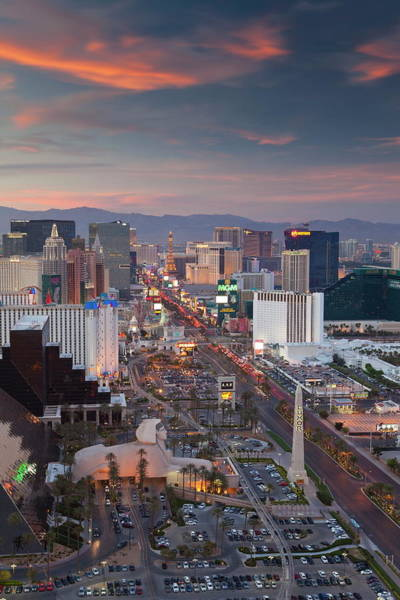 Kitsch Photograph - Elevated View Of The Hotels And Casinos by Gavin Hellier / Robertharding