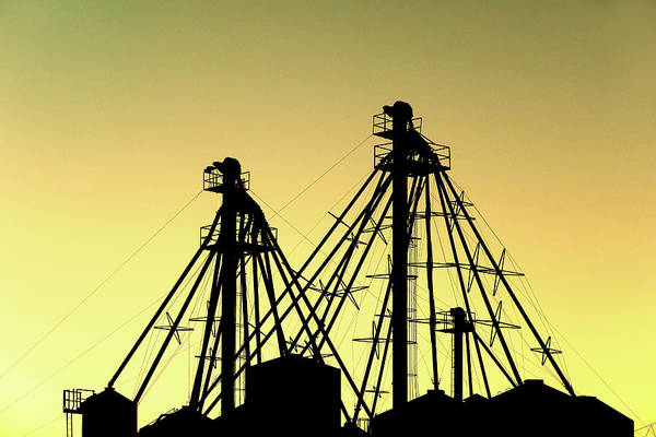 Wall Art - Photograph - Grain Elevator Silhouette by Todd Klassy