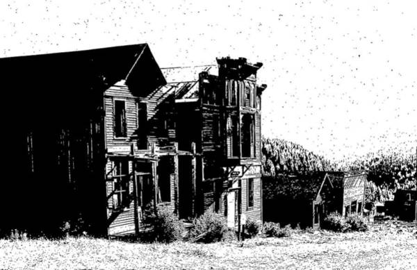 Drawing - Elkhorn Ghost Town Montana by Kevin Heaney