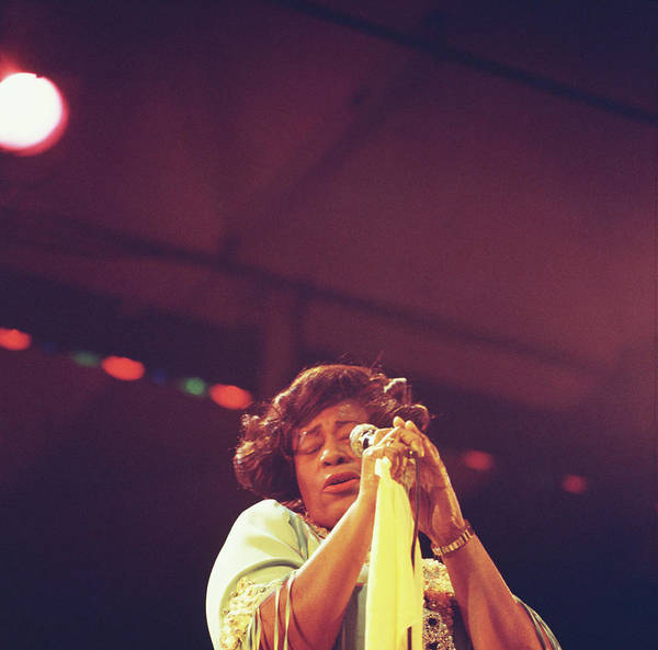 Singer Island Photograph - Ella Fitzgerald Performs On Stage by David Redfern