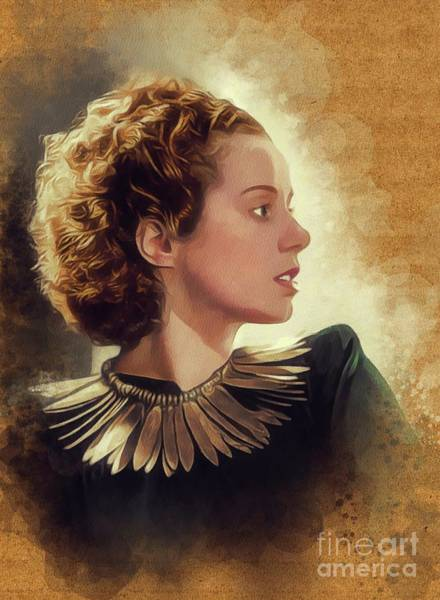Wall Art - Painting - Elsa Lanchester, Vintage Actress by John Springfield