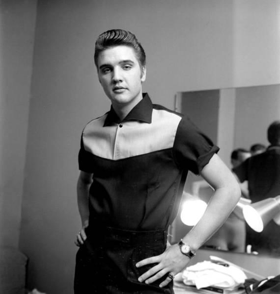 People Photograph - Elvis Presley On Milton Berle by Michael Ochs Archives