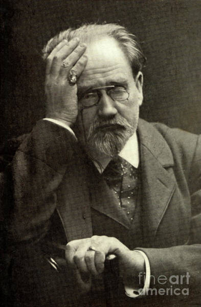 Wall Art - Photograph - Emile Zola The French Novelist by French School