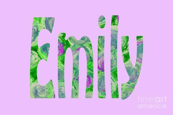 Digital Art - Emily by Corinne Carroll
