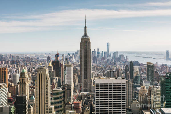Wall Art - Photograph - Empire State Building And Manhattan Skyline, New York City, Usa by Matteo Colombo