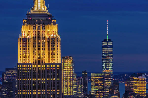 Photograph - Empire State Building Esb World Trade Center Wtc Nyc by Susan Candelario
