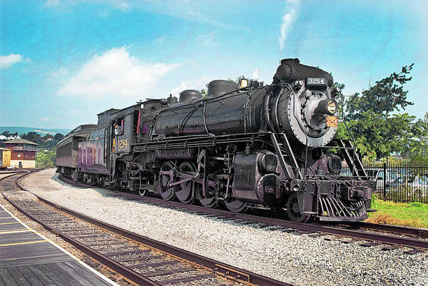 Wall Art - Photograph - Engine 3254 Under Steam by Paul W Faust - Impressions of Light