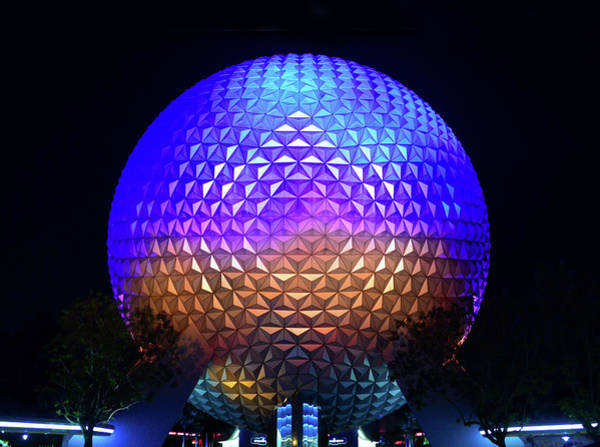 Epcot Center Wall Art - Photograph - Epcot Night by David Lee Thompson