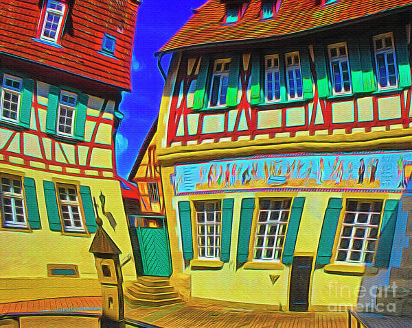 Digital Art - Eppingen by Edmund Nagele