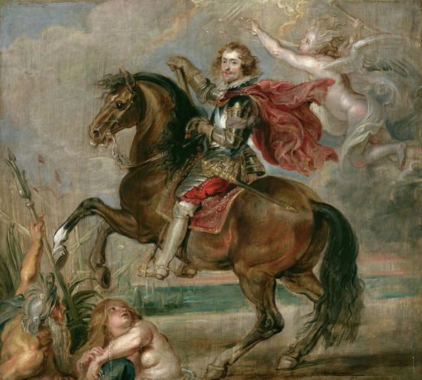 Wall Art - Painting - Equestrian Portrait Of The Duke Of Buckingham by Peter Paul Rubens