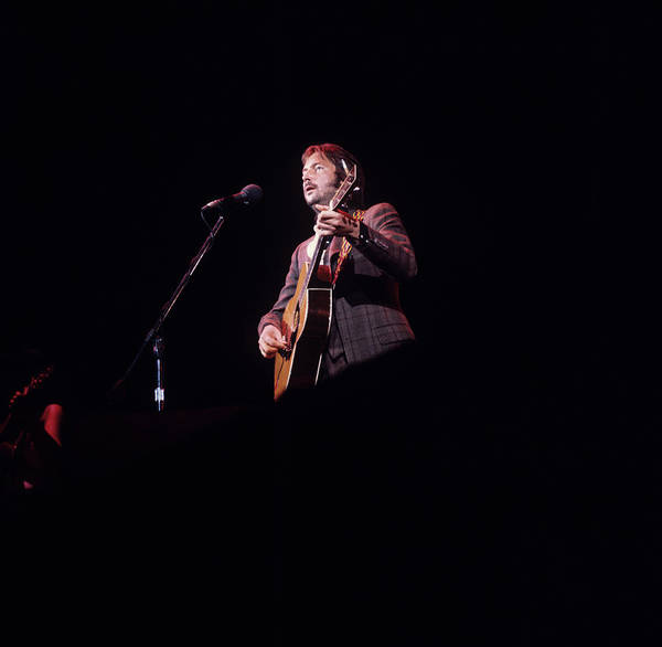 Singer Island Photograph - Eric Clapton Performs On Stage by Steve Morley