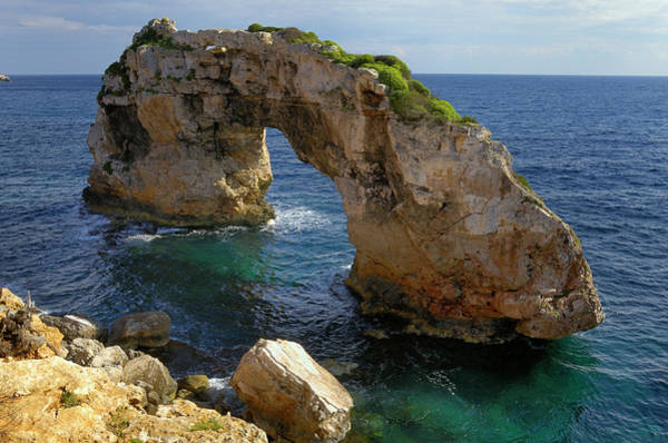 Natural Arch Photograph - Es Pontas, A Natural Rock Arch In The by Cornelia Doerr