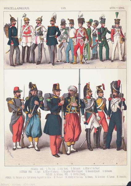 Uniform Digital Art - European Military Uniforms by Archive Photos