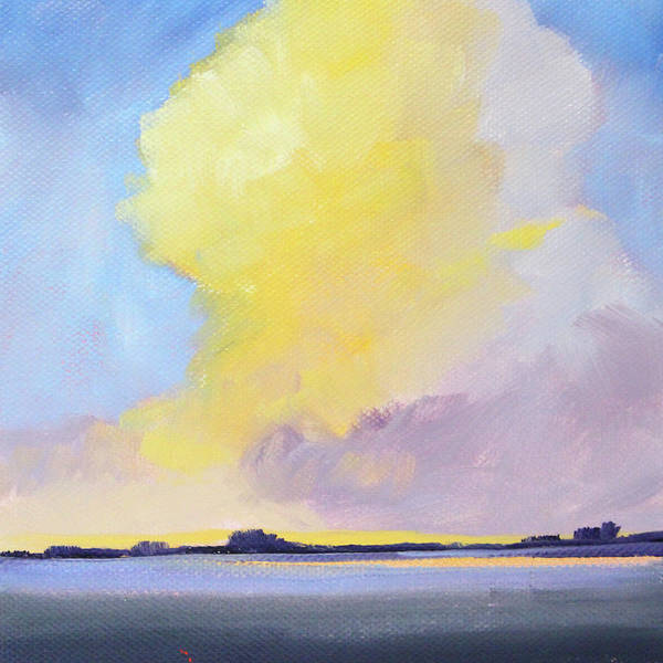 Wall Art - Painting - Evening Cloud by Nancy Merkle