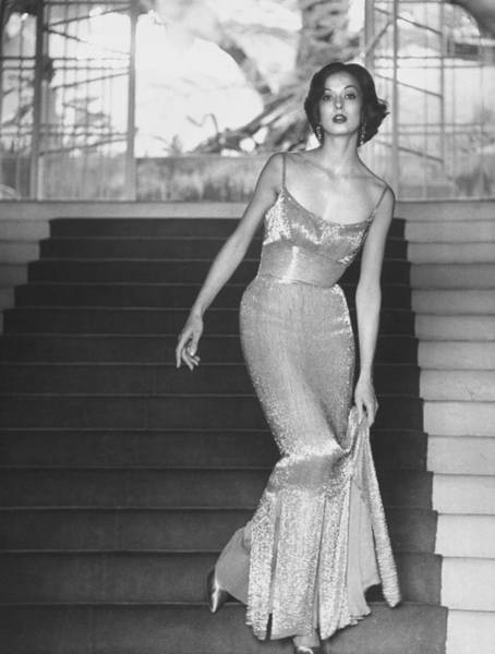 Photograph - Evening Dress Designed By A California D by Gordon Parks