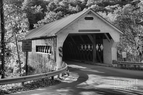 Photograph - Evening Light At The Dummerston Covered Bridge by Adam Jewell