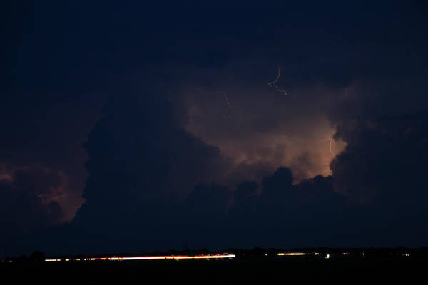 Photograph - Evening Supercell And Lightning 046 by Dale Kaminski