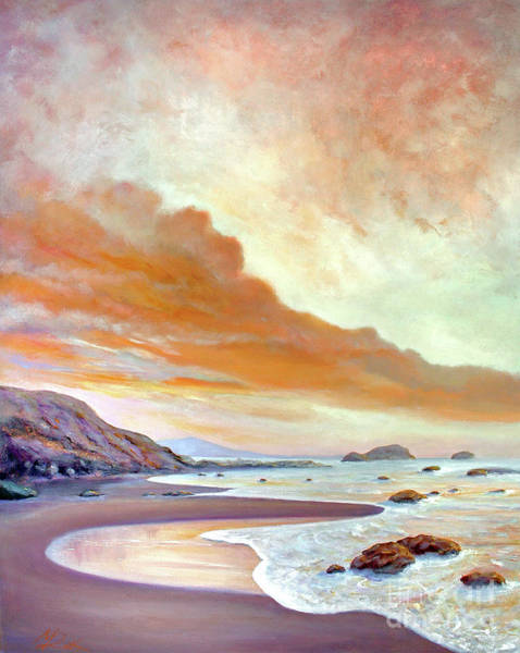 Painting - San Simeon Beach by Michael Rock