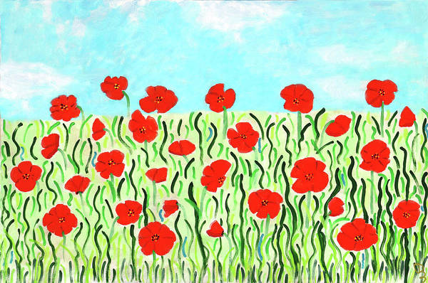 Painting - Everythings Popping Up Poppies by Deborah Boyd