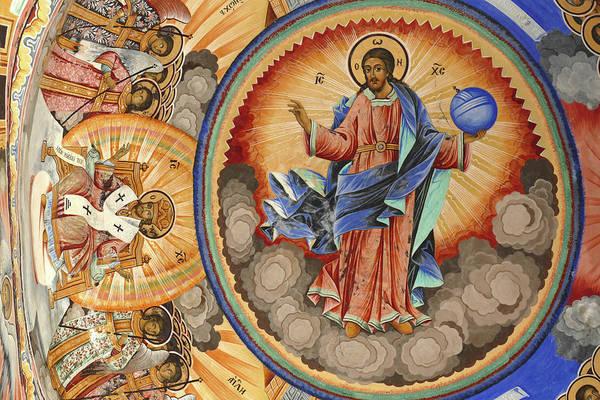 Photograph - Exterior Fresco Paintings Of Bible Stories  by Steve Estvanik