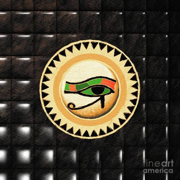 Wall Art - Painting - Eye Of Horus by Pierre Blanchard