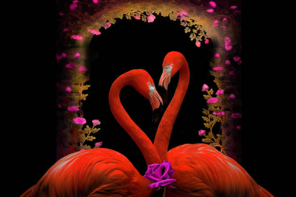 Wall Art - Digital Art - Falling In Love by Debra and Dave Vanderlaan