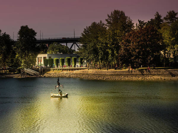 Photograph - False Creek Golden Hour by Juan Contreras