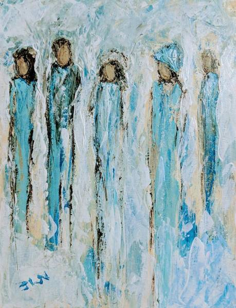 Painting - Family Of Angels by Jennifer Nease