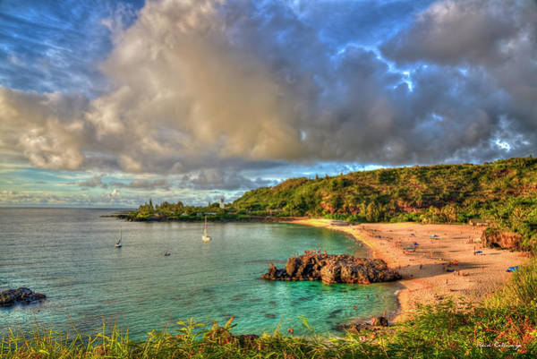 Wall Art - Photograph - Waimea Bay Sunset Oahu Hawaii Seascape Art by Reid Callaway