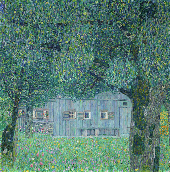 Wall Art - Painting - Farmhouse In Upper Austria, 1911 by Gustav Klimt