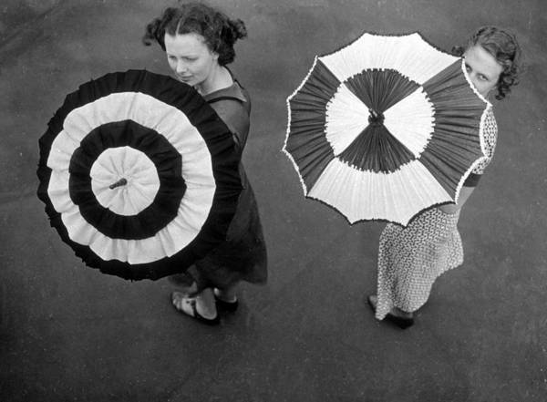 Parasol Photograph - Fashion Parasols by Topical Press Agency