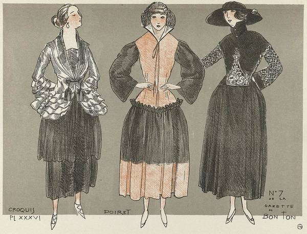 Wall Art - Painting - Fashion Poster 1900-1920s Series - 48 by Celestial Images