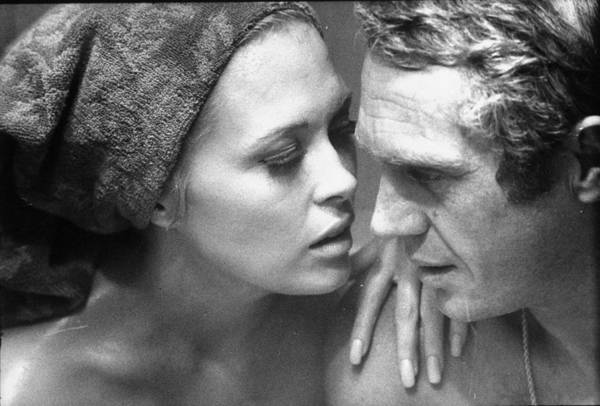 Actress Photograph - Faye Dunawaysteve Mcqueen by Bill Ray