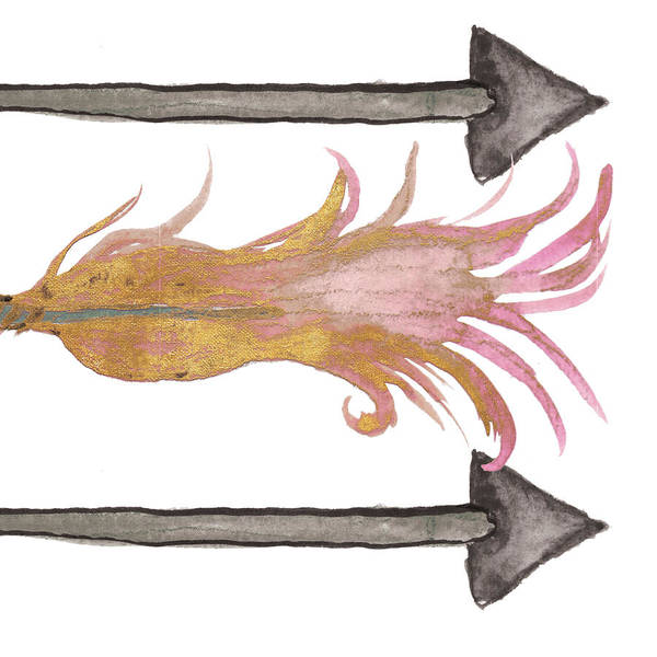 Wall Art - Painting - Feathers And Arrows I by Elizabeth Medley