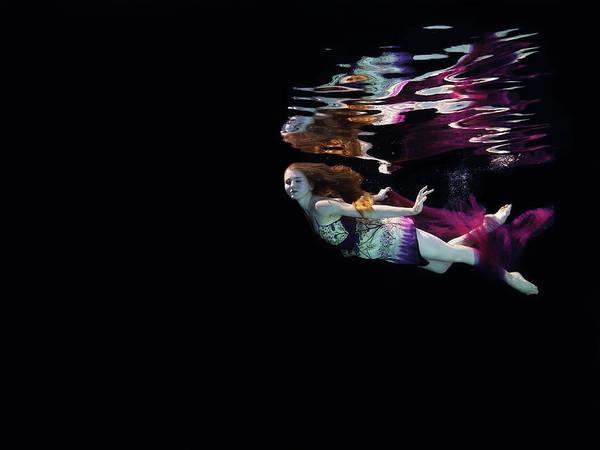 Underwater Camera Photograph - Female Dancer Floating Underwater by Thomas Barwick