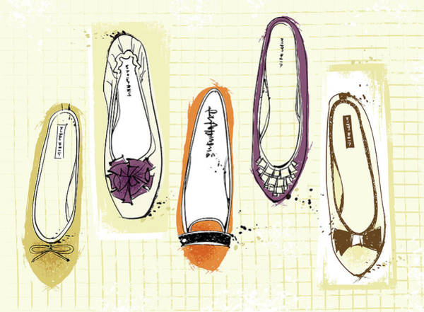 Shoe Digital Art - Feminine Shoes by Eastnine Inc.