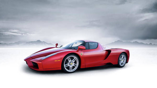 Ferrari Wall Art - Digital Art - Ferrari Enzo by Douglas Pittman