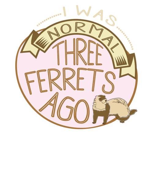 Ferrets Drawing - Ferret Lovers I Was Normal 3 Ferrets Ago by Kanig Designs