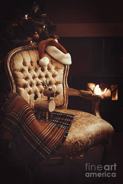 Wall Art - Photograph - Festive Christmas By Roaring Fire by Amanda Elwell