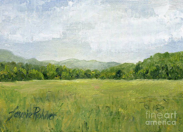 Painting - Fields Meet Mountains by Laurie Rohner