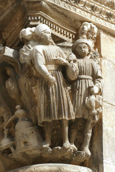 Photograph - Figures On Capitals Of The Rector's Palace by Steve Estvanik
